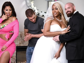 big ass Bridgette B & Moriah Mills & Xander Corvus in Moriahs Wedding Shower - BRAZZERS big tits european