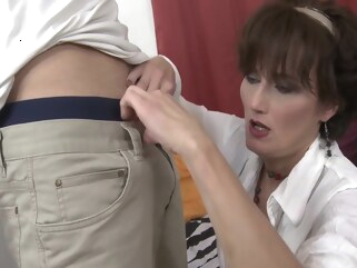 big tits Hot MILF with younger lover hd mature