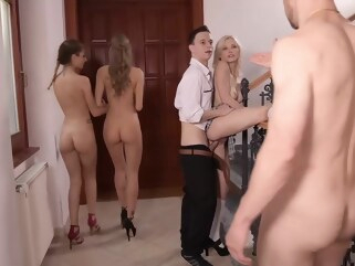 anal Erik Everhard and Nikki Nuttz like to have orgies at work, every once in a while group sex hd