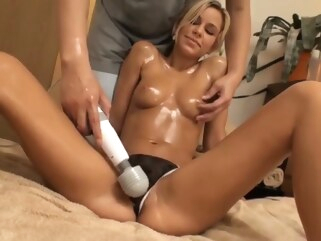 blonde Pussy Massage hotfuck amd CREAMPIE creampie hd