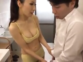 asian Hot Japanese Mom and her Young Son japanese milf