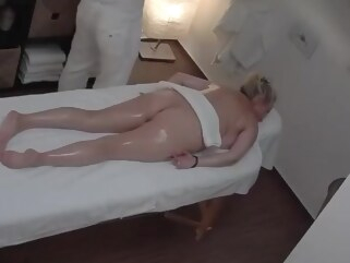 big tits Mature Blonde Breast in a Massage Parlor blonde massage