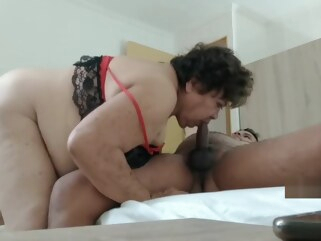 bbw FUCKING WITH MY GRANDMA LUISA IN QUARANTINE big ass granny