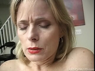 mature Aged dilettante plays with her moist twat until this babe cums straight