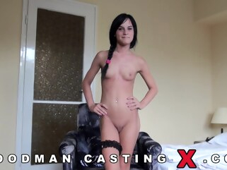brunette Jessy and Cats Taylor casting of two sisters casting cumshot