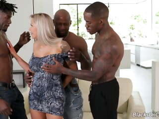 anal Nina Elle Fucks With Three Stallions big tits blonde