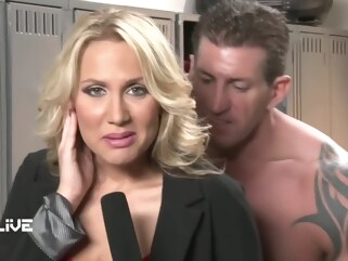 big cock Hanala Ear big tits blonde