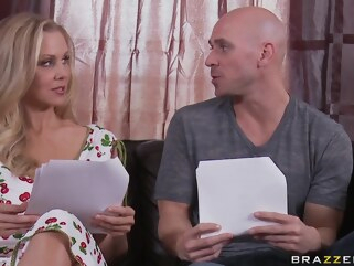big tits Julia Ann, Johnny Sins - My Mommy Does Porno Part I blonde cumshot