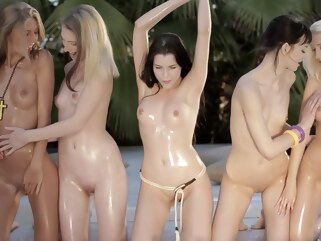blonde Valeria A Nancey A Linda S Anjelica Aimee Ryan Join The Fun group sex hd