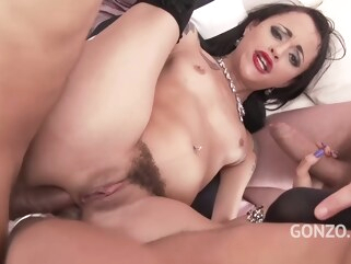 anal Holly Hendrix is having wild sex with many guys and enjoying every single second of it creampie double penetration