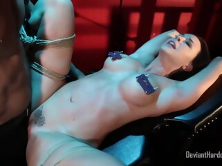 bdsm Kinky woman with big tits, Chanel Preston got tied up and fucked until she came big tits fetish