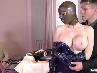 bdsm Latex beauty, Lucy is getting fucked very hard and cant wait to get a facial cumshot big tits blonde