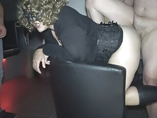 amateur Jessica used by over 10 strangers at a porn theater blonde creampie