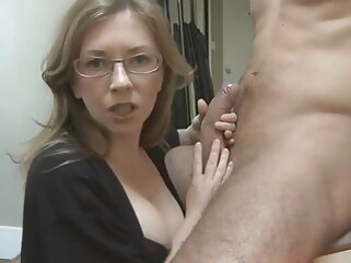 blowjob mom's girlfriend has chosen my dick mature handjob