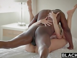 blonde BLACKED Cheating MILF Brandi Loves First Big Black Cock blowjob cumshot