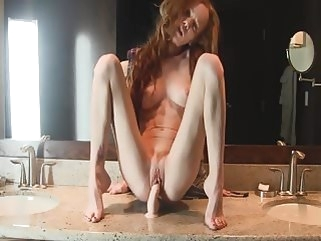 webcam redhead bathroom dildo sex toy top rated