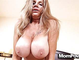 amateur MomPov huge tits mature cougar loves fucking POV stud mature tits