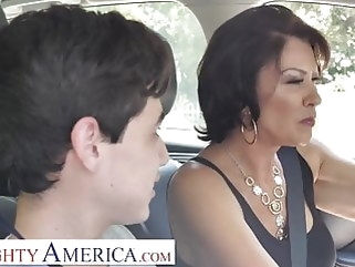 blowjob Naughty America Mrs. Fuller (Vanessa Videl) teaches Juan how hardcore mature