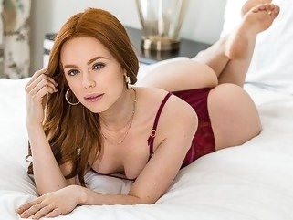 anal Slender redhead girlfriend suck penis and spread her legs for a spanki... red head spanking
