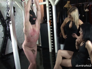 femdom Lady Black Diamond & Patient c56xx & Lady Chanel in Double Ball Busting - Lady Black Diamond - KINK