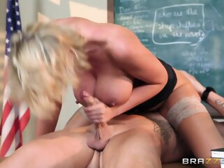 blonde Big Tits at School: Teaching Miss Darby a Hard Lesson. Leigh Darby, Clover blowjob british