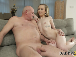 blonde DADDY4K. Skinny peach speaks Russian to BFs dad then they fuck blowjob czech