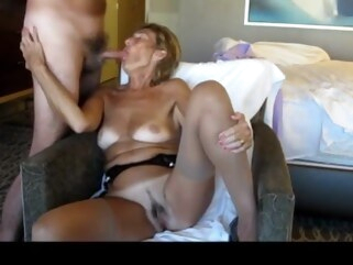 granny Mature Exhibitionist loves sucking dick and showing off