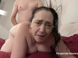 big tits Insatiable granny, Liza was desperate for a good fuck, so she invited a younger guy over brunette hd