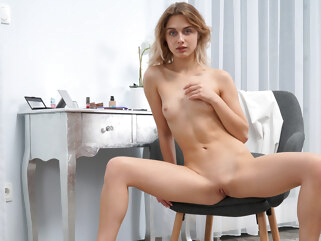 blonde Clarise in Caress - NUBILES masturbation skinny