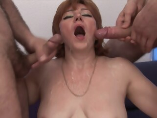 anal Five dudes and a redhead get it on big ass big cock