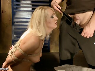 bdsm Valerie Follass in a scene of domination blonde fetish