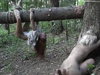 anal HORRORPORN - A dark side of the woods blonde fingering