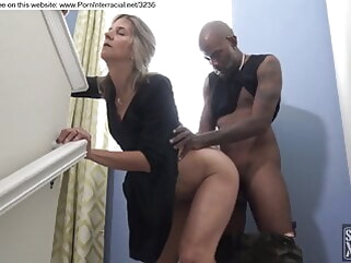 amateur blonde fucked by black guy during party blonde creampie