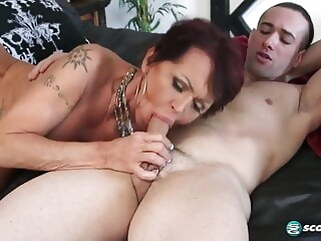 blowjob Guy fucks Grandma milf old &