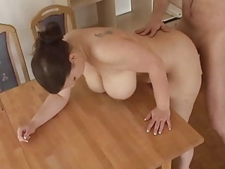 amateur busty german wife gets fucked on table bbw hardcore