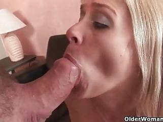 cumshot Shoot your cum in her mouth mature facial