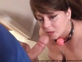 anal Big Tit Anal Mom Gets Ball Gagged & Butt Fucked bbw mature