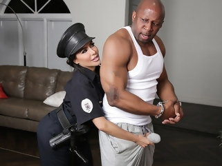 big ass Lela Star & Prince Yahshua in Bad Cop Black Cock - RKPrime tattoo interracial