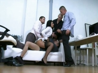 double penetration Having A Precious Time In The Office straight