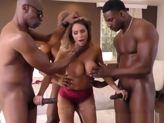 straight Brooklyn Chase Interracial Gangbang cumshot big cock