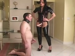 bdsm Dominatrix In Latex Bonks Her Sub femdom latex
